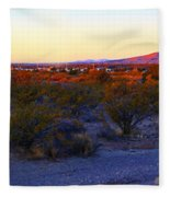 Panorama Morning View Of Mountains Fleece Blanket