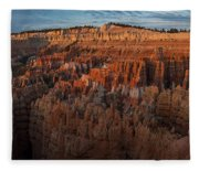 Panorama Of Bryce Canyon Amphitheater Fleece Blanket