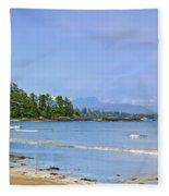 Panorama Of Pacific Coast On Vancouver Island Fleece Blanket