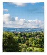 Panorama Of Phoenix Park And Wicklow Mountains Fleece Blanket