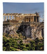 Panorama Of The Acropolis In Athens Fleece Blanket