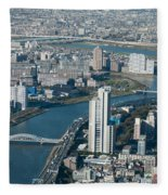 Panorama Of Tokyo Fleece Blanket