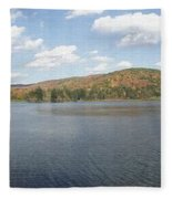 Panorama Red House Lake Allegany State Park Fleece Blanket