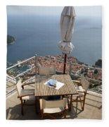 Panorama Restaurant Fleece Blanket