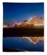 Panorama - Santa Cruz Boardwalk Fleece Blanket