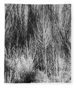 Panorama Winter Trees B And W Fleece Blanket