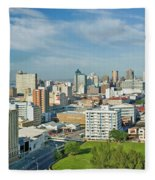 Panoramic Aerial View Of Durban, South Fleece Blanket