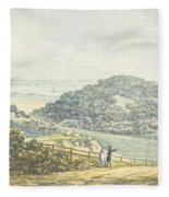 Panoramic After View, From The Red Book Fleece Blanket