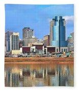 Panoramic Cincinnati Fleece Blanket