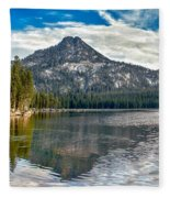 Panoramic Of Anthony Lake Fleece Blanket