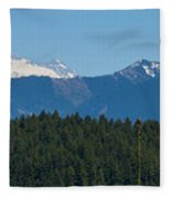 Panoramic Rainier Rt.25 Fleece Blanket