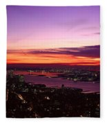 Panoramic View Of Empire State Fleece Blanket
