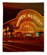 Panoramic View Of Golden Nugget Casino Fleece Blanket