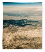 Panoramic View Of Landscape Of Mountain Range Fleece Blanket