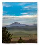 Panoramic View Of The Cascades Fleece Blanket