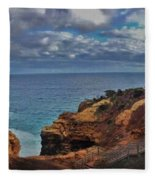 Panoramic View Of The Grotto Fleece Blanket