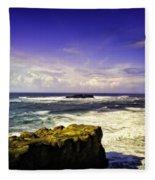 Panoramic View Of The Pacific Ocean Fleece Blanket