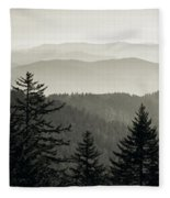Panoramic View Of Trees With A Mountain Fleece Blanket