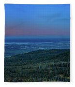 Panoramic View Overlooking Anchorage Fleece Blanket
