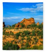 Panoramic View, Sedona, Arizona Fleece Blanket