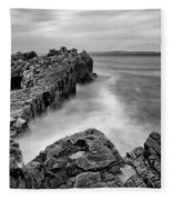 Ballycastle - Pans Rock To Rathlin Island Fleece Blanket