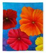 Pansies For Rosalina Fleece Blanket
