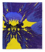 Pansy By Jammer Fleece Blanket