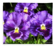 Pansy From The Chalon Supreme Primed Mix Fleece Blanket