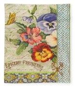 Pansy Garden-b Fleece Blanket
