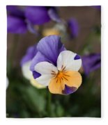 Pansy Fleece Blanket