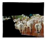 Pantenal Cows Fleece Blanket