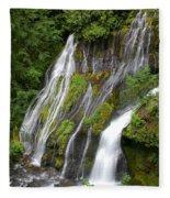 Panther Creek Falls 2- Washington Fleece Blanket