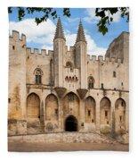 Papal Castle In Avignon Fleece Blanket