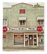 Papa's Poboy Shop Fleece Blanket
