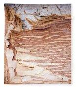 Paper Bark Background Fleece Blanket