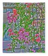 Paper Flowers Fleece Blanket