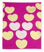 Paper Hearts Fleece Blanket