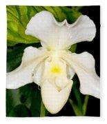Paphiopedilum Orchid Fleece Blanket