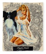 Papillon Art - Una Parisienne Movie Poster Fleece Blanket