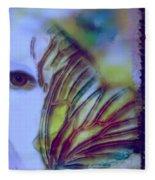 Papillon Bleu Fleece Blanket