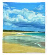 Papohaku Beach Molokai Fleece Blanket