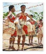 Papua New Guinea Cultural Show Fleece Blanket