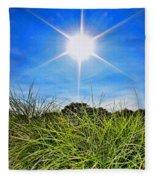 Papyrus In The Sun Fleece Blanket