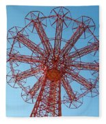 Parachute Jump-coney Island Fleece Blanket