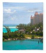 Paradise And Atlantis Fleece Blanket