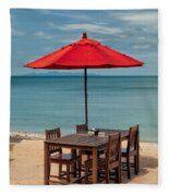 Paradise Dining Fleece Blanket