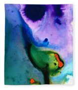 Paradise Found - Colorful Abstract Painting Fleece Blanket