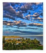 Paradise Is Nice By Diana Sainz Fleece Blanket