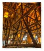 Paradise Lodge Mt Rainier Natl Park Fleece Blanket
