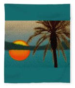Paradise Sun Fleece Blanket
